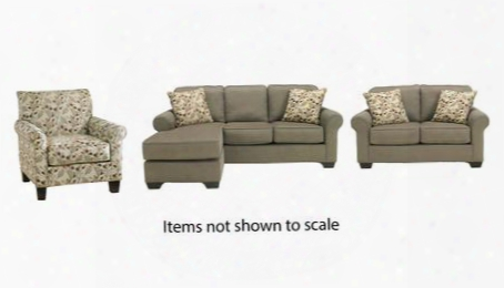 Danely Collection 35500slc 3-piece Living Room Set With Sofa Chaise Loveseat And Accent Chair In