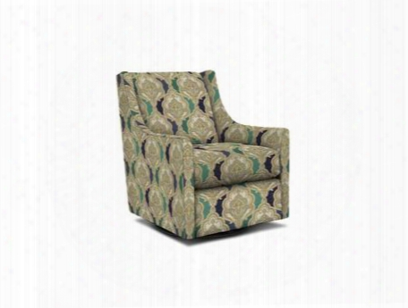 "Falon Collection 1138-09/be110-5 29"" Swivel Glider Chair With Fabric Upholstery Wing Back Down Sloping Curved Arms And Contemporary Style In Woven Tapestry"