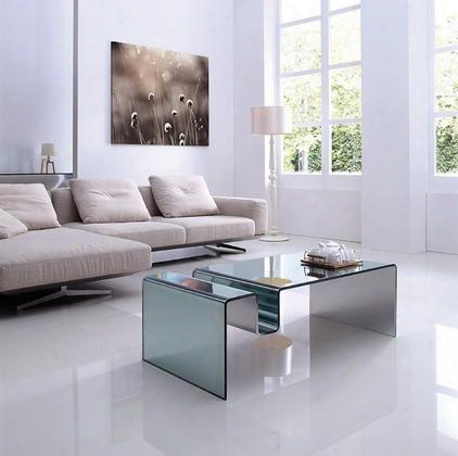 """Figaro Collection Cb-119-m 47.5"""" Coffee Table With Rectangular Shape Mirrored Glass Top And"""
