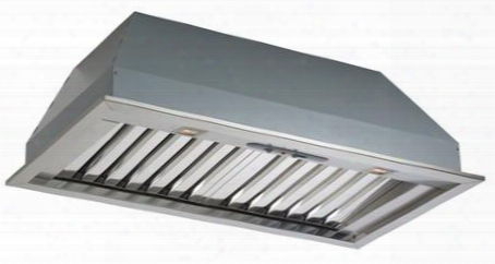 """Fimax46b9ss-1 46"""" Pro Insert Collection Massimo Wall Mount Insert With 600 Cfm Halogen Lighting 4 Speed Slider Control And Baffle Filters In Stainless"""