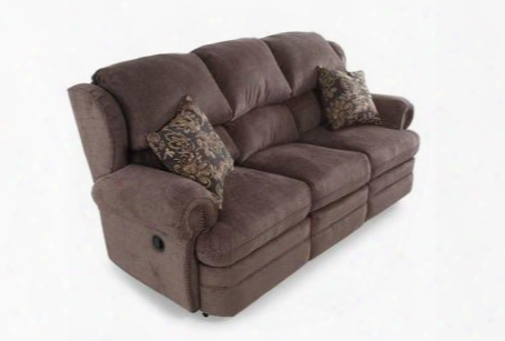 "Hancock Collection 203-39/1426-14/1241-13 86"" Double Reclining Sofa With Fabric Upholstery Rolled Arms Nail Head Trim And Traditional Style In Viper"