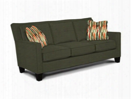 "Jevin Collection 6018-3q1/4697-95/4614-74 78"" Sofa With Fabric Upholstery Track Arms Tufted Back Cushions And Transitional Style In Grey With Addison Ebony"