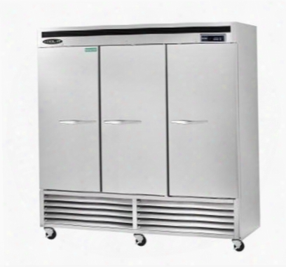 Kbsf3 Triple Door Freezer Bottom Mount Compressor With 72 Cu.ft. Capacity 9 Shelves Led Interior Lighting Digital Temp Erature Display In Stainless