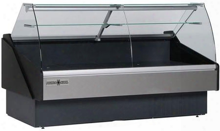 Kpmcg100s Curved Glass Deli Case With 32.54 Cu. Ft. Capacity 5/8 Hp Tilt Out Curved Tempered Front Glass Rear Tempered Sliding Doors In
