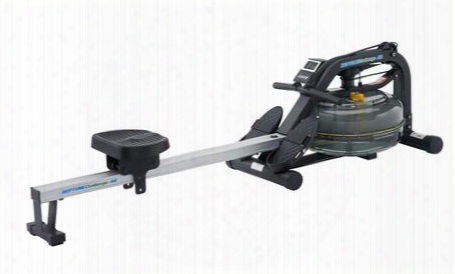 Neptune Challenge Ar Nepar Fluid Rower With Adjustable Resistance Pivoting Footplates Delrin Low Friction Seat Rollers And Built-in Wheels In