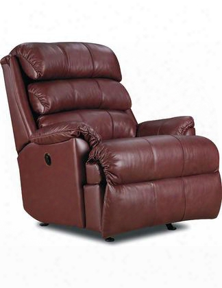 "Revive Collection 11958p/23-43/5123-43 38"" Power Zero Gravity Rocker Recliner With Leather Match Upholstery Stitched Detailing Plush Padded Arms And Casual"