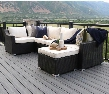OR6SCES 6-Piece Rattan Patio Sectional -