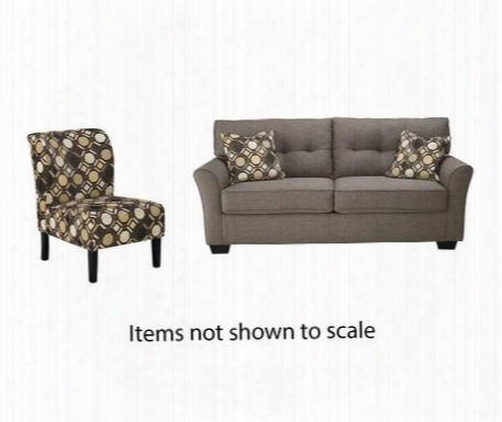 Tibbee Collection 99101sac 2-piece Living Room Set With Sofa And Accent Chair In