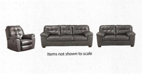 Alliston Collection 20102slr 3-piece Living Room Set With Sofa Loveseat And Recliner In