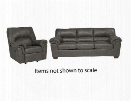 Bladen Collection 12001sr 2-piece Living Room Set With Sofa And Recliner In