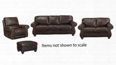 Bristan Collection 82202slro 4-piece Living Room Set With Sofa Loveseat Recliner And Ottoman In