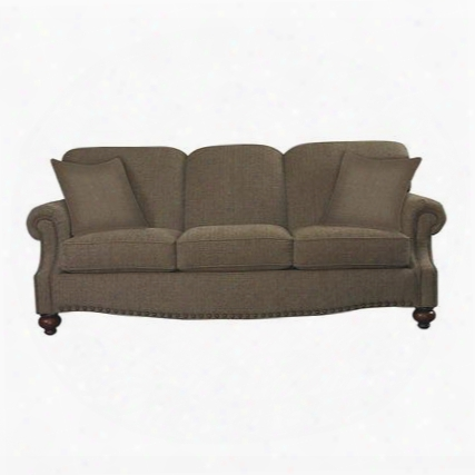 """Club Room Collection 3991-6qfc/fc118-2/std 88"""" Queen Sofa Sleeper With Fabric Upholstery Antique Brass Nail Head Trim And Traditional Style In"""