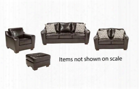 Coppell Durablend Collection 59001slco 4-piece Living Room Sset With Sofa Loveseat Living Room Chair And Ottoman In
