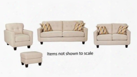 Drasco Collection 58902slco 4-piece Living Room Set With Sofa Loveseat Livingroom Chair And Ottoman In