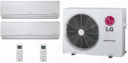 Dual Zone Mini Split Air Conditioner System With 21000 Btu Cooling Capacity 2 Indoor Units And Outdoor