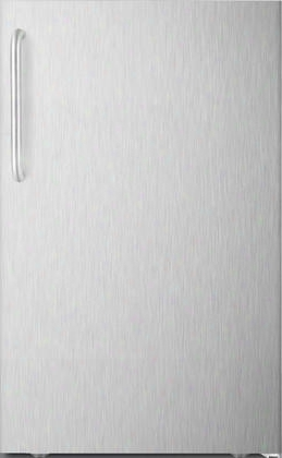 "Fs408blxcssada 20"" Ada Compliant Upright Freezer With 2.8 Cu. Ft. Capacity Pull-out Drawers Adjustable Thermostat And Professional Handle In Stainless"