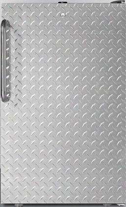 "Fs408blxsstbada 20"" Ada Compliant Upright Freezer With 2.8 Cu. Ft. Capacity 4 Pull-out Drawers Aadjustable Thermostat And Manual Defrost In Stainless Steel"
