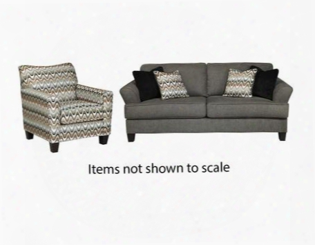 Gayler Collection 41201sac 2-piece Living Room Set With Sofa And Accent Chair In
