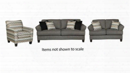 Gayler Collection 41201slac 3-piece Living Room Set With Sofa Loveseat And Accent Chair In