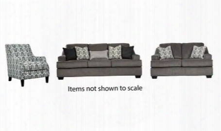 Gilmer Collection 65603slac 3-piece Living Room Set With Sofa Loveseat And Accent Chair In