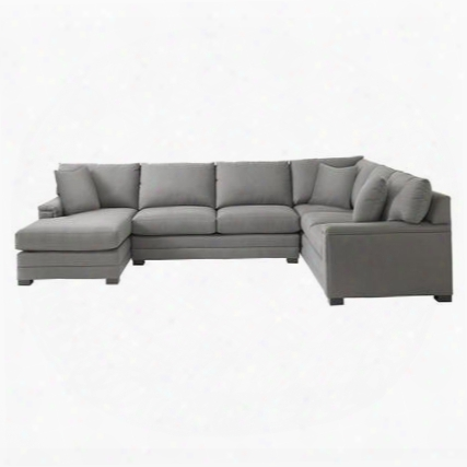Hancock Collection 3935-ulsectfc/fc163-9 U-shaped Sectional Sofa With Left Arm Facing Chaise  Position Fabric Upholstery Top Stitching Pad Arms Dramatic