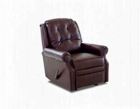 "Sand Key Collection Lv57603h-rrc-aw-aw 32"" Leather Reclining Rocking Chair With Easy Pull Handle Petite Rolled Arms And Welted Panel Cushion In Abilene And"