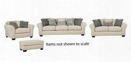 Silsbee Collection 55402slco 4-piece Living Room Set With Sofa Loveseat Chair And A Half And Ottoman In