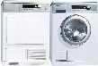 "Lotus White Little Giant Series Front Load Laundry Pair with PW6068WH 24"" Washer and PT7135CWH 24"" Electric"