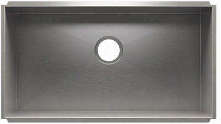 """Urban Edge Collection 003685 30"""" Kitchen Sink With Single Bowl 3.5"""" Drain Placement And 304 Series Corrosion Resistant Material In Brushed Stainless Steel"""