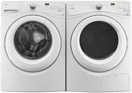 "White Front Load Laundry Pair With Wfw7590fw 27"" Washer And Wed7990fw 27"" Electric"
