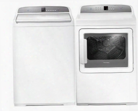 "White Top Load Laundry Pair With Wa3927g1 27"" Washer And Dg7027g1 27"" Gas"