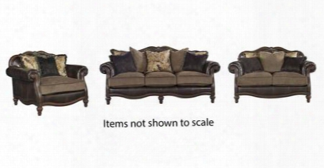 Winnsboro Collection 55602slc 3-piece Living Room Set With Sofa Loveseat And Chair And A Half In