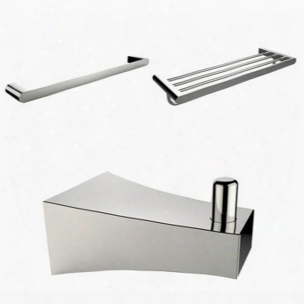 Ai-13556 Chrome Plated Roe Hook Multi-rod Towel Rack And A Single Towel Rod Accessory