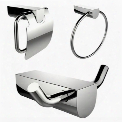 Ai-13658 Chrome Plated Towel Ring And Robe Hook With Modern Toilet Paper Holder Accessory