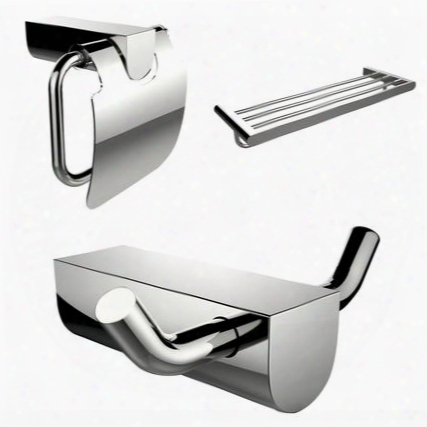 Ai-13664 Modern Multi-rod Towel Rack Toilet Paper Holder And Robe Hook Acccessory