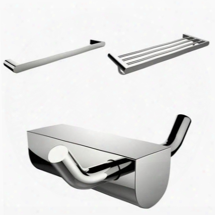 Ai-13700 Chrome Plated Robe Hook With Single Towel Rod And Multi-rod Towel Rack Accessory