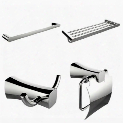 Ai-14008 Single And Mult I-rod Towel Rack With Robe Hook And Toilet Paper Holder Accessory