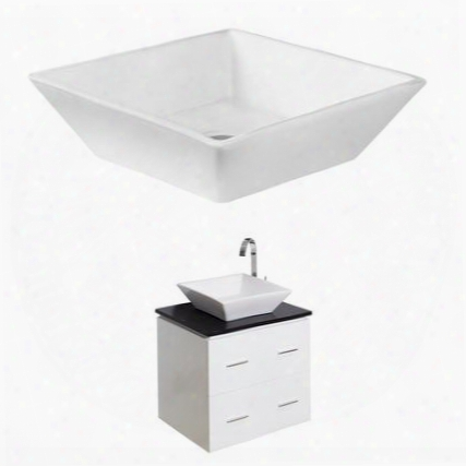 Ai-1541 48-in. Width X 18.5-in. Diameter Plywood-veneer Vanity Set In