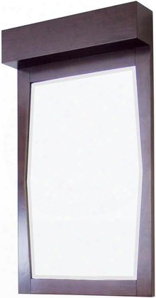 Ai-276 23-in. Width X 34-in. H Transitional Birch Wood-veneer Wood Mirror In