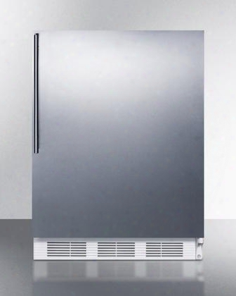 "Alb651sshv 24"" Ada Compliant Dual Evaporator Undercounter Refrigerator With 5.1 Cu. Ft. Capacity Cycle Defrost Adjustable Thermostat And Professional"