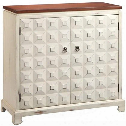 "Catialina 13404 36"" Cabinet With Fixed Shoal Pyramid Block Facings And Hand-painted In"