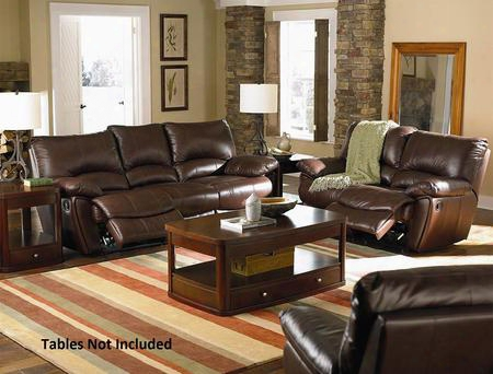 Clifford 600281set 3 Pc Living Room Set With Motion Sofa + Motion Loveseat + Recliner In Dark Brown