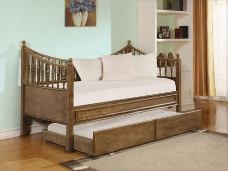 Joshua 12090set 2 Pc Bedroom Set With Daybed + Trundle In Oak