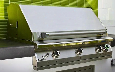 "S36tng Pgs T- Series Pacifica 39"" Stainless Steel Commercial Grill Head With Built In One Hour Gas Timer For Natural"