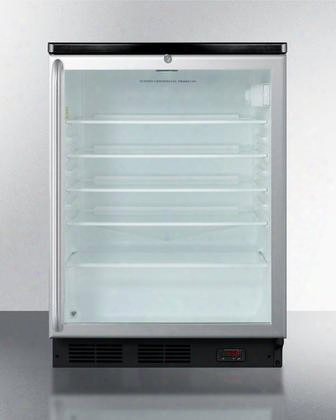 """Scr600blshada 24"""" Commercially Approved Freestanding Beverage Center With 5.5 Cu. Ft. Capacity 4 Glass Shelves Automatic Defrost Double Pane Glass Door And"""