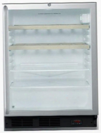 """Scr600blshwoada 24"""" Commercially Approved Freestanding Beverage Center With 5.5 Cu. Ft. Capacity 2 Glass Shelves Automatic Defrost 2 Wine Racks Double Pane"""