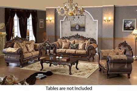 Seville 693-s-l-c 3 Piece Living Room Set With Sofa + Loveseat And Chair In Cherry