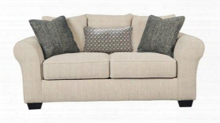 "Silsbee Collection 5540235 76"" Loveseat With Fabric Upholstery Piped Stitching High Density Foam Cushion Cores And Contemporary Style In"