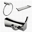 AI-13463 Chrome Plated Towel Ring Double Robe Hook And A Multi-Rod Towel Rack Accessory