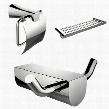 AI-13645 Modern Multi-Rod Towel Rack With Robe Hook And Toilet Paper Holder Accessory